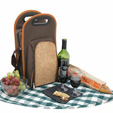 Wine Travel Insulated Cooler Wine Carrier PB200 bottle opener and glasses