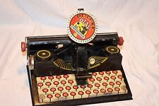 Vintage Marx Toy Tin Litho Dial Typewriter - Kids Toy - Collectible
