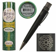 Retro 51 #TRR-1301 /  Black Titanium Big Shot Tornado Rollerball Pen