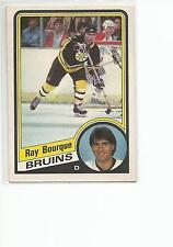 RAY BOURQUE 1984-85 OPC O-Pee-Chee Hockey card #1 Boston Bruins EX+