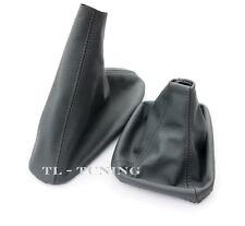 Schaltsack + Handbremssack Echt Leder GRAU passend für 3er E46 Schaltmanschette