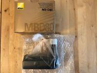 New Nikon MB-D80 Multi-Power Battery Grip for the Nikon D80 & D90 Digital SLR C
