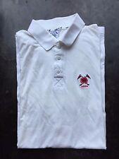 """Para Hombre Adidas Golf Polo Camiseta Talla 44-46"""" """"pecho crema/blanco De Colección Retro Talla XL"""