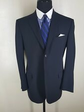 HALSTON Made In Italy  Solid Blue Suit 2 Btn Center Vent  42 Reg  Fit 42-44 Reg