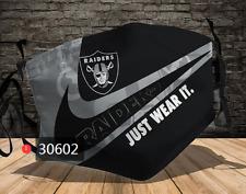 Brand New Las Vegas Raiders NFL Masque Visage Avec 2 2.5PM Filtres