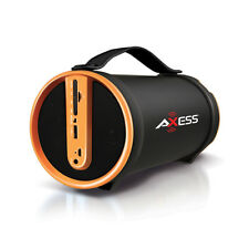 Axess SPBT1033YL Yl Portable Bluetooth Speakers 2.1 Hifi Loud Speaker W/4 In Sub