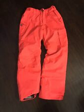 Girls Large L Orange 686 Snowboarding Pants Waterproof 10mm Thermal