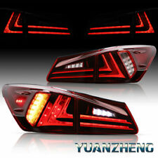 For 2006-2013 Lexus IS350 IS250 ISF LED Tail Lights Rear Lamps Plug and Play Red