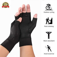 1Pair New Copper Fit Arthritis Compression Gloves Hand Support Joint Pain Relief