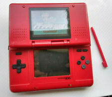 Nintendo DS Original Red Handheld System Console+Stylus+Game Bundle Lot NTR-001