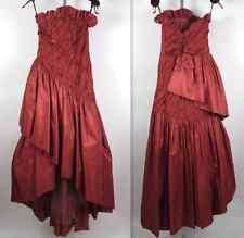 Vintage sz 4 Oscar de la Renta signature collection strapless dress gown tiered