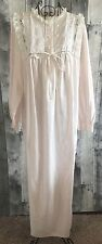 VTG Barbizon Cuddleskin Satin Nightgown Pajamas Lingerie Lace Eyelet Long Large