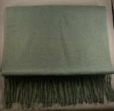 Woolovers 100% Merino Wool Green Scarf New
