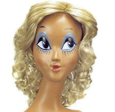 Curly Blonde Bob Wig Snow White Britney Fairy Tale Fancy Dress