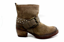 Josef Seibel Womens Toni 09 Studded Suede Ankle Bootie Taupe Size 36