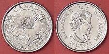 Brilliant Uncirculated 2015 Canada Poppy Plain 25 Cents From Mint's Roll