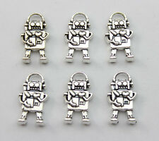 Free shipping 50 pcs retro style The robot alloy charms pendant