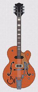 Gretsch Guitar Cross Stitch Kit
