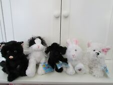 CUTE ANIMALS BY GANZ LIL'KINZ LOT OF 5 DOGS, CATS, RABBIT SOME W/ SEALED CODES