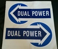 FORD 5000 7000 TRACTOR DUAL POWER DECAL (PAIR)
