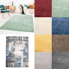 Moderner Kurzflor Designer Wohnzimmer Teppich Galant Uni und mit Muster weich