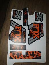 FOX 2016-17 DPS Float EVOL Rear Shock Sticker Factory Decal Kit Adhesive Orange