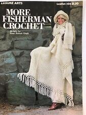 Leisure Arts 1977 More Fisherman Crochet Pattern