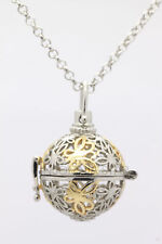 Harmony Ball Pendant Lockets Essential Oil Perfume Diffuser Necklace Butterfly