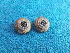 Vintage Boucles d'oreilles Oréna Paris strass rouge métal doré Clips Earrings