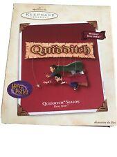 2002 Hallmark Ornament Quidditch Season Harry Potter Windup Movement Nib