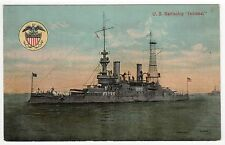 USS INDIANA PC Postcard BATTLESHIP BB-1 US Navy NAVAL USN Military WAR Ship