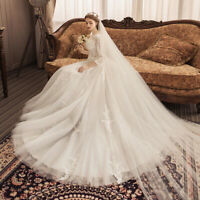 Luxurious Wedding Dress Long Sleeve Ball Gown Full Lace Bridal Wedding Gown