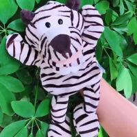 Marionette a mano con animali da zoo in peluche da 31 cm per bambini che fanno