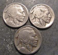1921P, 1926P, 1927P Buffalo Nickels