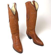 Ralph Lauren Tall Brown Cowboy Boots - Women's Sz 6.5M Excellent