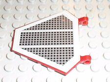 Drapeau LEGO STAR WARS DkRed flag hexagonal ref x1435 + sticker / set 7283 75051