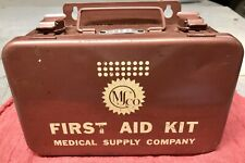 Vintage Metal MS Company Military First Aid Kit 1169 Medical Supply VGC