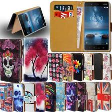Leather Smart Stand Wallet Card Cover Case For Various Nokia Smart Phones