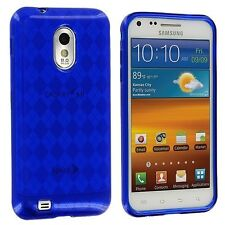 TPU Gel Case for Samsung Galaxy S2 Epic Touch 4G D710 - Argyle Blue