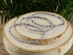 GRAPE AGATE Healing Crystal Round Beaded Bracelet - Friendship Bracelet R0636