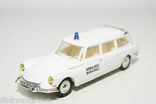 NOREV CITROEN ID DS 19 BREAK AMBULANCE MUNICIPALE WHITE VN MINT CONDITION