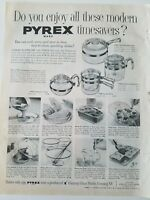 1953 Pyrex tempered flameware glass cookware vintage ad