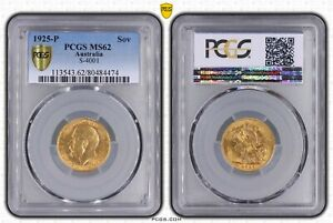 1925P Sovereign in PCGS MS62