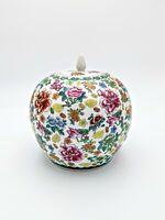 Millefiori Thousand Flowers Chintz Asian Ginger Jar Porcelain Urn Vintage Flower