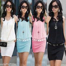 Vintage Chiffon Mini Dress Kleid Etuikleid Sommerkleid 32 34 36 38 Sommer KLeid