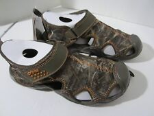 Crocs Swiftwater Realtreemax5 Water Sandal Chocolate Camo 201152-280 Size 9  NWT