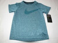 Boys Youth Nike Dri-Fit 6 M short sleeve shirt 8MC153-U4E Light Aqua Heather