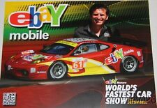 2011 Justin Bell Ebay Mobile Ferrari Le Mans Series SEMA Show postcard