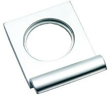 Satin Chrome Victorian Squared Yale Lock Surround / Door Pull (SCP237)
