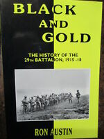 29th Battalion WW1 29th BLACK AND GOLD Australian Military History Book